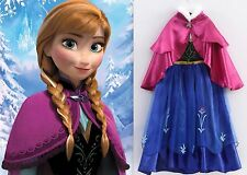 NEW Frozen Princess  ANNA Inspired Dress Gown Girls Costume Size 5/6 (M) Elsa