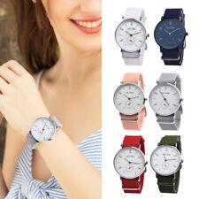 Fashion Watch Women Ladies Nylon Band Dial Quartz Wristwatch Watches New