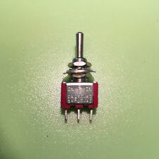TOGGLE SWITCH SPDT MINI 6mm (ON) OFF (ON) MOMENTARY AC / DC 2A @ 250V 5A@ 125V