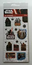 Star Wars Force Awakens Sticker Pack Kylo Ren Rey Finn Poe Brand New Sealed