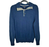 Banana Republic Blue Cotton Wool Collared Sweater Pullover Size Medium Men's