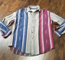Vintage American Terrain Button Down Shirt Size Large Native Indian Look