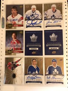 Toronto Maple Leafs Lot Sale Upperdeck Autographs/Redemptions UD Canada Teams 14