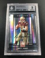 2008 MATT RYAN DONRUSS ELITE RC ROOKIE CARD AUTO REFRACTOR #/199 BGS 9/10