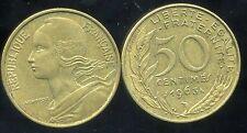 FRANCE  50 centimes 1963  LAGRIFFOUL ( col 3 plies )   ( etat )