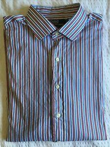 Polo by Ralph Lauren size XL Regent White Blue Red Stripe button down shirt euc