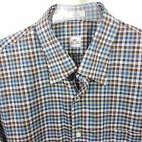 Peter Millar Shirt Men's Sz L Checks Plaid Button Down Multi-Color Long Sleeve