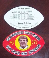 NFL Schedule  San Francisco Forty Niners 1976