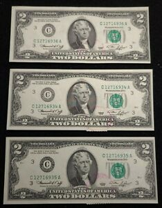 1976 $2 notes (3) Uncirculated Bicentennial First Day of Issue Stamps LANSDOWNE