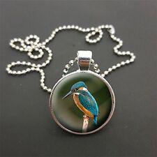 """Kingfisher Pendentif sur 18"""" (ou toute taille) Boule Chaîne Collier Cadeau D'anniversaire N110"""