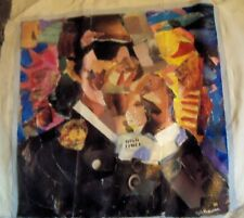 BOB DYLAN HIGH TIMES  A  by  FREEMAN COLLAGE  ON  UNSTRETCHED CANVAS 24  X  24