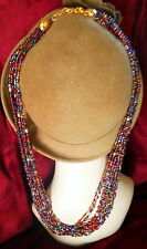 "QVC Joan Rivers NEW Rich Jewel Tone Torsade Necklace 34"" long"