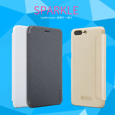 Original Nillkin Sparkle Flip PU Leather Case Slim Thin Cover For OnePlus 5 Five