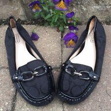 Coach Black Signature C, Women's Size 7.5, Slip on loafers,
