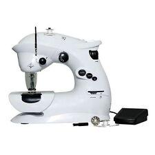 Keimav 7 Stitch Max Portable 2in1 Sewing Machine (White/Black)
