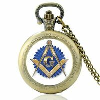 Antique Masonic SymbolPocket Watch Quartz Movement Classic Freemasonry Pendant