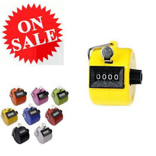 Tally Counter Digital Hand Held 4 Number Mechanical Lap Tracker Manual Clicker
