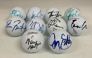Group Lot of 10 PGA Tour Player Signed Autograph Auto Golf Ball JSA COA