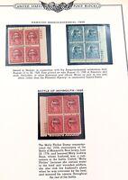 .RARE 1928 HAWAIIAN SESQUICENTENNIAL STAMPs MINT PLATE BLOCKS. 2 CENTS 5 CENTS