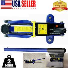 Floor Jack 2 Ton 4400lbs Hydraulic Pump Lift Aluminum Steel Racing Car Rapair