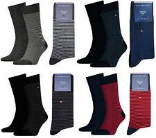 Tommy Hilfiger Herren Socken Baumwoll Business Strümpfe - Feinstreifen/Uni