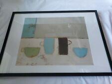 Framed Print Anji Allen Cups And Bowls Black Ikea Frame 72.5x53cm