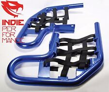 ANODIZED BLUE NERF BARS SUZUKI LTR 450 ALL MODELS FREE SHIPPING LTR450 NET BLACK