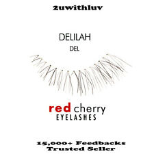 3 X Red Cherry 100 Human Hair Black False Eye Lashes #del