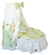 Textil Ausstattung für Stubenwagen- Bienen grün-gelb inkl. Matratze