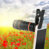 High Quality Universal 8x Optical Zoom HD Telescope Camera Lens Clip-on Mobile