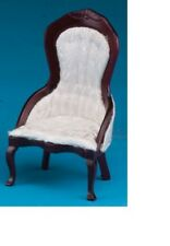 Dollhouse Miniatures 1:12 Scale Victorian Lady's Chair, Mahogany #CLA10700