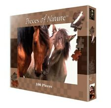 """Pieces of Nature Nuzzling Mustangs 100 Piece Puzzle 14""""x19"""" - NIB"""