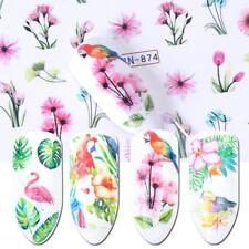 Nail Art Water Decals Transfers Stickers Water Effect Tulip Flowers Floral BN874