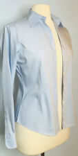 Brooks Brother's 346 Women's 2 Fitted Non Iron Button Down Blue Blouse Cotton