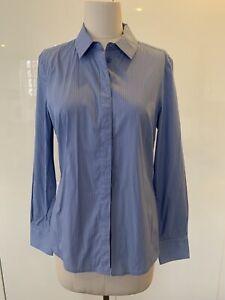 SABA Women's Shirt - Size 10 - European Fabric - Blue & White Stripe