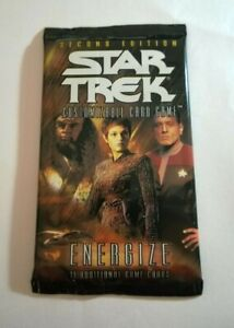 Star Trek The CCG's Energize Card Game Sealed Booster Pack