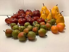 LOT OF 47 PIECES OF FAKE FRUITS-APPLES PEARS KUMQUATS