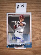 Drew Vettleson Signed 2015 Topps Pro Debut Rc Auto🔥N-10