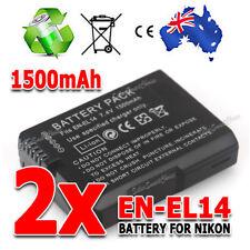 1/2x EN-EL14 1500mAh Backup Battery For Nikon Camera D3100 D3200 D5100 P7000