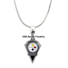 de9f671b NFL Pittsburgh Steelers Team Logo 925 Sterling Silver Snake Chain Necklace