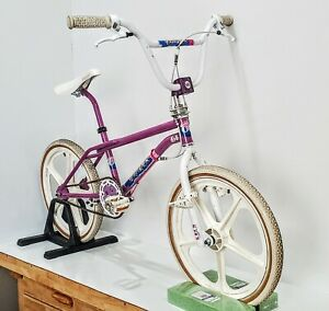 """GT Performer BMX with """"GT Fork Standers"""" """"Patent Pending Power Series Cranks""""."""