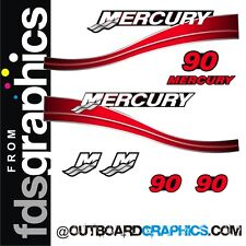 Mercury 90hp two stroke outboard decals/sticker kit