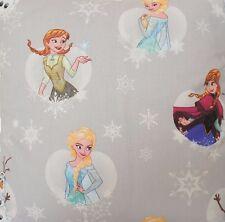 Frozen Elsa Anna ollaf STAMPATO TESSUTO GRIGIO COTONE DISNEY venduti dalla metro