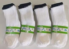 Lot 12 Pair Infant Baby Socks Boy Girl Unisex Size 6-12 Months White Navy Stripe