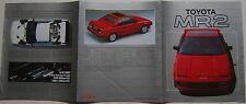 Toyota Mr2 Mk 1 1985-86 original del Reino Unido mercado folleto de ventas