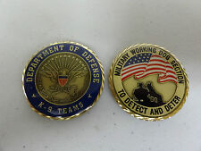 CHALLENGE COIN MILITARY POLICE WORKING DOG K-9 SECTION DEPARTMENT OF DEFENSE