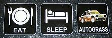 EAT SLEEP AUTOGRASS NATIONAL VINYL DECAL STICKER CAR CLASS FREE P & P