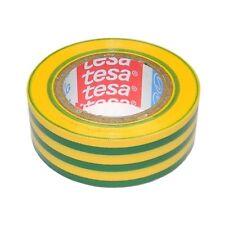 (0,15 €/ M) 5x 10m TESA Top Quality Insulated Tape Green/Yellow Tesaflex 53948,