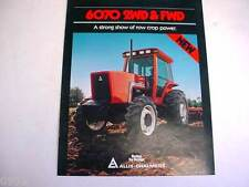 Allis Chalmers 6070 Farm Tractor Brochure 1984 4 Pages