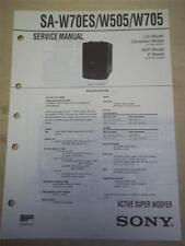 Sony Service Manual~SA-W70ES/W505/W705 Active Super Woofer~Original~Repair